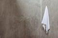 Hanging White Towel Royalty Free Stock Photo