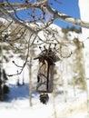 Hanging Wooden Birdhouse Royalty Free Stock Image