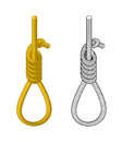 Hangman. Rope with loop. Hanging on rope. Node. Thick rope rope. Royalty Free Stock Photo