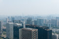 Hangzhou in hazy weather weather,in china Royalty Free Stock Photo