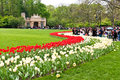 Hangzhou taiziwan park tulips in full bloom the april china tulip every year attracts many Royalty Free Stock Images
