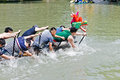 Hangzhou xixi wetland Dragon boat race,in China Royalty Free Stock Photo