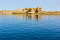 Hania fortress crete small guarding the harbour at chania in greece Stock Photography