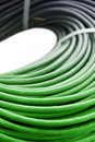 Hank of a green network cable Royalty Free Stock Photos