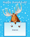 Hannukah_moose Immagine Stock