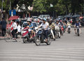 Hanoi traffic Stock Photography
