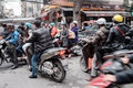 Hanoi traffic Royalty Free Stock Photo