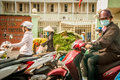 Hanoi Vietam March 3 2014 Life in Vietnam - Street by moto bike is an essential part of life in Vietnam, traffic of Royalty Free Stock Photo