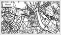 Hanoi Vietnam City Map in Black and White Color.