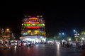 Hanoi vietnam night scene view of Royalty Free Stock Photo