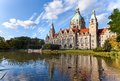 Hanover city hall hannover neues rathaus Stock Photography