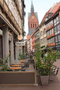 Hanover germany the church markt kirche in may historic center of Royalty Free Stock Photo