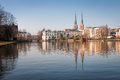 The hanseatic city of lübeck scene cityscape was shot in morning is second largest in schleswig holstein in northern Royalty Free Stock Image