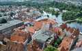 Hanseatic city of lübeck germany the pictures the has been taken in summer luebeck is a in the state schleswig holsteinlocated at Stock Photo