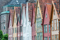 Hanseatic houses in bryggen the oldest part of bergen norway Royalty Free Stock Images