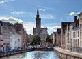 Hanseatic neighbourhood of medieval Bruges / Brugge, Belgium Royalty Free Stock Photo