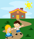 Hansel and gretel Royalty Free Stock Photo