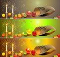 Hanukka banners set Stock Image