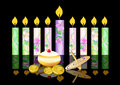 Hanukkah background with candles Stock Photos