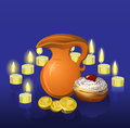 Hanukkah background with candles Royalty Free Stock Images