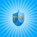 Hanukkah background with dreidel Royalty Free Stock Photo