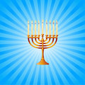 Hanukkah background with Menorah Stock Image