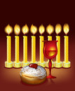 Hanukkah candles, Stock Images