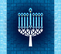 Hanukkah candles with pattern Royalty Free Stock Photo