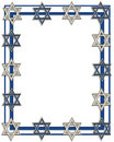 Hanukkah Jewish Star border Royalty Free Stock Photography