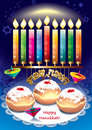 Hanukkah magic and miracles faith in god and jewish tradition Stock Image