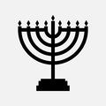 Hanukkah menorah icon