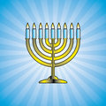 Hanukkah menorah - vector Stock Photo