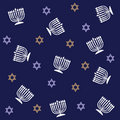 Hanukkah Pattern Royalty Free Stock Photo