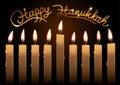 Hanukkah Realistic Vector Cand...