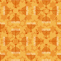 Hanukkah seamless pattern Royalty Free Stock Photo