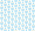 Hanukkah seamless pattern. Hanukkah background with Menorah.