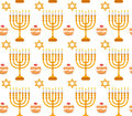 Hanukkah seamless pattern. Hanukkah background with Menorah