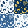 Hanukkah Seamless Patterns