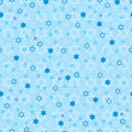 Hanukkah star blue pastel symmetry seamless pattern