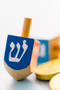 Hanukkah a still life composed of elements of the jewish chanukah festival Royalty Free Stock Photography