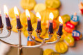 Hanukkah a still life composed of elements of the jewish chanukah festival Royalty Free Stock Photos