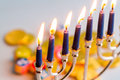 Hanukkah a still life composed of elements of the jewish chanukah festival Royalty Free Stock Images