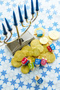 Hanukkah a still life composed of elements of the jewish chanukah festival Royalty Free Stock Photo