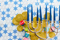 Hanukkah a still life composed of elements of the jewish chanukah festival Stock Photos
