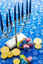 Hanukkah a still life composed of elements of the jewish chanukah festival Stock Photography