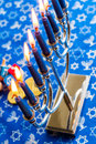Hanukkah a still life composed of elements of the jewish chanukah festival Stock Photo