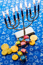 Hanukkah a still life composed of elements of the jewish chanukah festival Stock Images