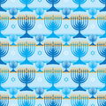 Hanukkah symmetry many stripe seamless pattern Royalty Free Stock Photo