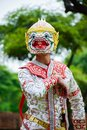 stock image of  Hanuman, Art culture Thailand dancing in masked Hanuman, Ramayana, Thai Khon