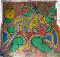 Hanuman - Colourful Painting at Tanjore Palace Durbar Hall